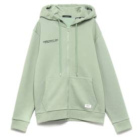 Logo Hooded Zip-Up Parka (LAGUNA WASH)