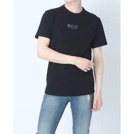 Unisex Embroidered Rainbow Logo Tee (BLACK)