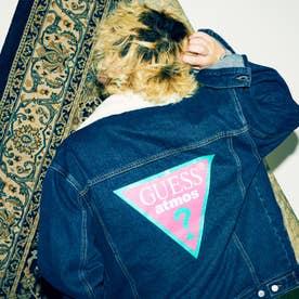 x atmos x BAD MOOD Oversized Triangle Logo Denim Jacket (DARK BLUE)
