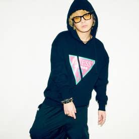 x atmos x BAD MOOD Oversized Triangle Logo Hooded Parka (BLACK)