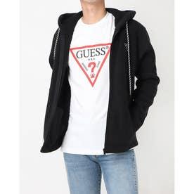 Mini Triangle Logo Hooded Zip-Up Parka (BLACK)