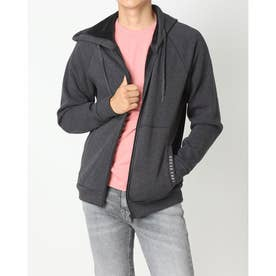 Hooded Zip-Up Parka (CHARCOAL GREY)