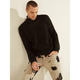 Asher Mock Neck Sweater (JET BLACK)