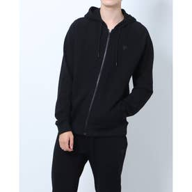 Alpine Hooded Zip-Up Parka (JET BLACK)
