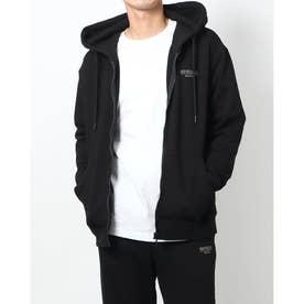 Hooded Zip-Up Parka (BLACK)