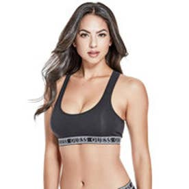 LOGO BAND SPORTS BRA (JET BLACK W/ FROST GREY)