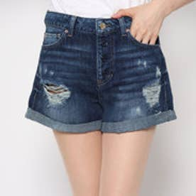 VINTAGE DESTROY CLAUDIA DENIM SHORT (DARK WASH)