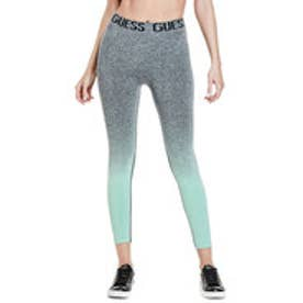 OMBRE LOGO SPORTS LEGGINGS (GREY MELANGE & BLUE COMBO)