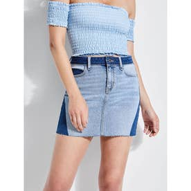 BRIGHT SHADOW DENIM MINI SKIRT (VENICE BLEACH WASH)