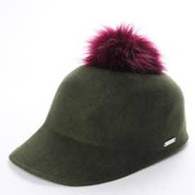 POM POM WOOL HAT (OLIVE NUDE)