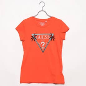 PALM GLITTER TRIANGLE LOGO TEE (SUNKISSED CORAL)
