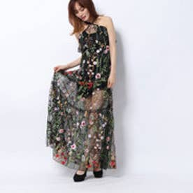 LONG FLORAL PRINT DRESS (FANTASY EXPLOSION FLOWER)