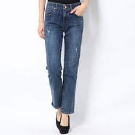 SLIM STRAIGHT DENIM PANT (MEDIUM BLUE)