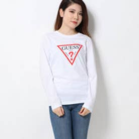 TRIANGLE LOGO ROUND-NECK L/S TEE (WHITE)