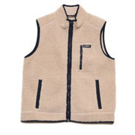 BOA FLEECE ZIP UP VEST (LIGHT BEIGE)