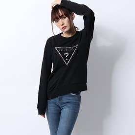 LEOPARD TRIANGLE LOGO SWEAT (BLACK)