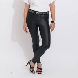 MARGIT LOGO ELASTIC TAPE LEGGING (JET BLACK)