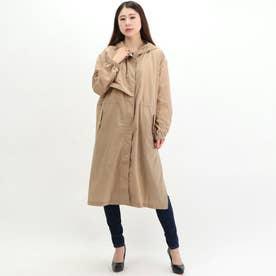 Hooded Nylon Coat (BEIGE)