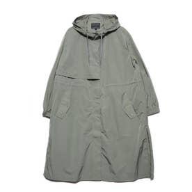 Hooded Nylon Coat (LIGHT KHAKI)