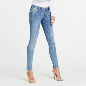 MARILYN 3 ZIP Low-Rise Skinny Denim Pant (BAYSHORE)