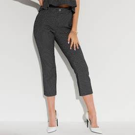 Zoe Capri Pants (DOTS JACQUARD BLUE AND WHITE)