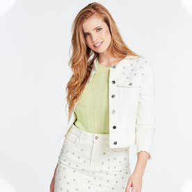 Hella Jewel Slim-Fit Denim Jacket (JUNGLE WHITE EMBELLISHMENT)