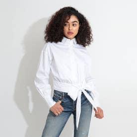 Lucina Knot Popeline Shirt (TRUE WHITE)