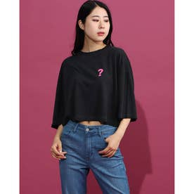 Spray Paint Logo Crop Half-Sleeve Tee (JET BLACK MULTI)