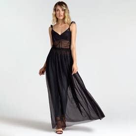 TILDA DRESS (JET BLACK W/ FROST GREY)
