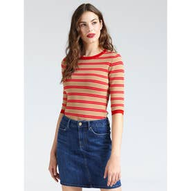 ADELE STRIPED SWEATER (RICH SAND AND G5F0/PCPK STRIPES)