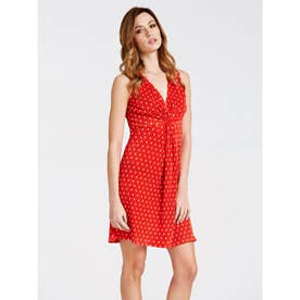 VANIA CROSSOVER DRESS (RED POIS)