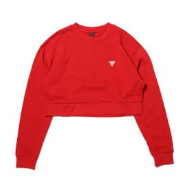 LS CREW NECK CROP SWEATSHIRT (RED)