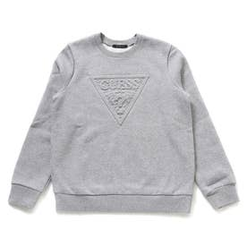 Emboss Triangle Logo Sweat (MELANGE GREY)
