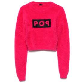 Sally Round-Neck Crop Sweater (ENERGY PINK)