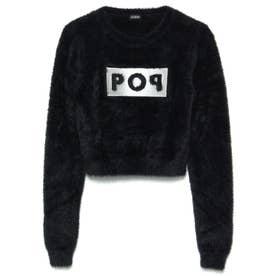 Sally Round-Neck Crop Sweater (JET BLACK)