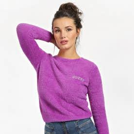 Rosmary Jewel Logo Crew-Neck Sweater (MAGENTA LUST)
