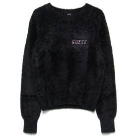Rosmary Jewel Logo Crew-Neck Sweater (JET BLACK)