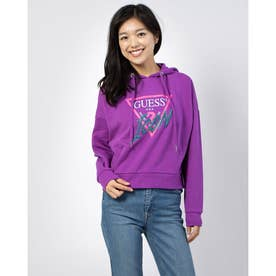 Icon Triangle Logo Fleece Hoody Parka (MAGENTA LUST)