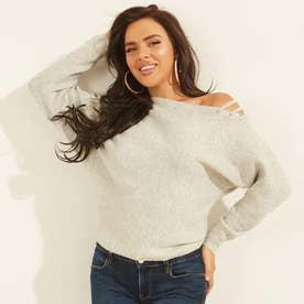 Jules Off-Shoulder Sweater (LIGHT HEATHER GREY)