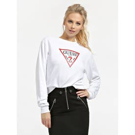 Vinyl Triangle Logo Fleece Sweat (TRUE WHITE)