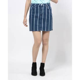 DEV STRIPED RAW HEM MINI (DARK STRIPED INDIGO)