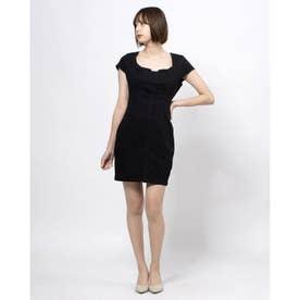 JULIANA DENIM DRESS (JET BLACK)