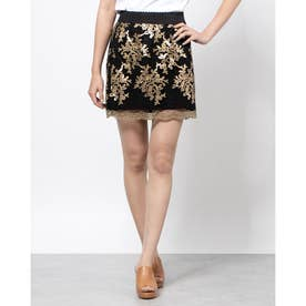CANDICE MINI SKIRT  (BLACK GOLD COMBO)