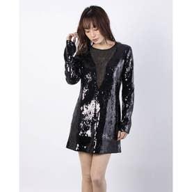 SPARKLE MINI DRESS SEQUINS (JET BLACK)