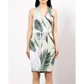 HALTER BRITTNEE DRESS (SUNSET PALMS DESERT SAGE)