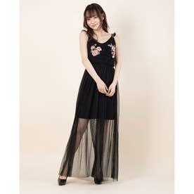 GERTRUDE DRESS (JET BLACK W/ FROST GREY)