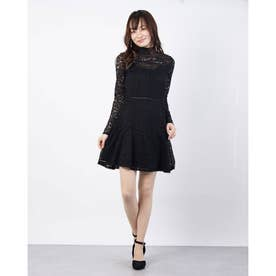 ODESSA DRESS (JET BLACK W/ FROST GREY)