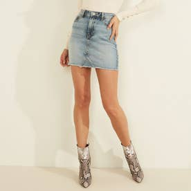 Rue Denim Mini Skirt (FLORA WASH)