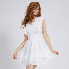 Aisha Sangallo Lace Dress (TRUE WHITE)