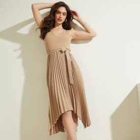 Erynn Pleated Dress (LIGHT RUM)